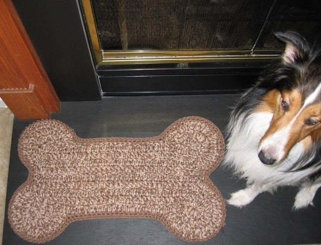 Crocheted Dog Bone Mat Pattern