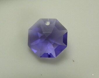 2pc 8115 Genuine Swarovski Prism 14mm Blue Violet