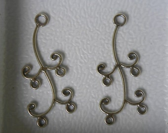 Bali Sterling Silver Chandelier Connector 2pc ch22