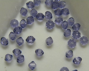 24pc Genuine Swarovski Bicone Beads 5301 3mm Tanzanite