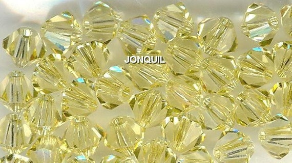 20pc Genuine Swarovski Bicone Beads 5301 5mm Jonquil