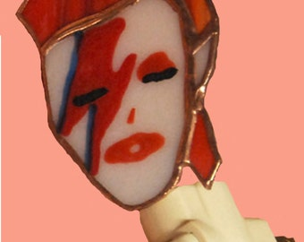 Stained Glass DAVID BOWIE Night Light by Glass Action