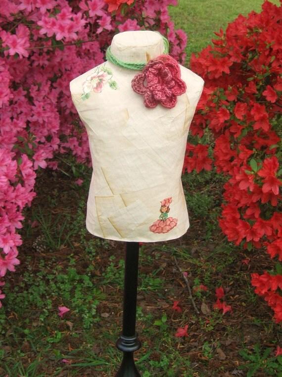 Blossom Paper Mache Dress Form