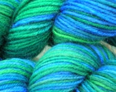 Wool\/nylon superwash sock yarn - Sea Change