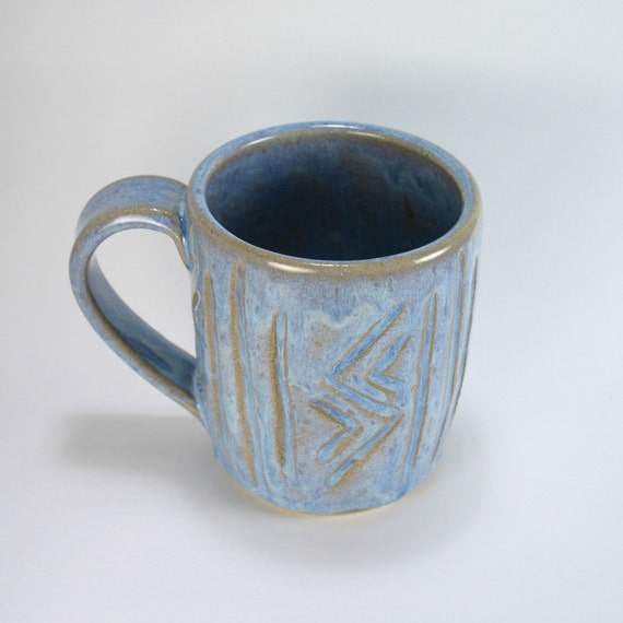 Nobody's Perfect BIg Blue Carved Mug, 16 Ounce, Last Chance 50% Off Sale
