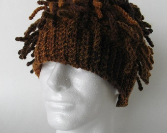 Funky Dreads Ski Hat Crochet Pattern