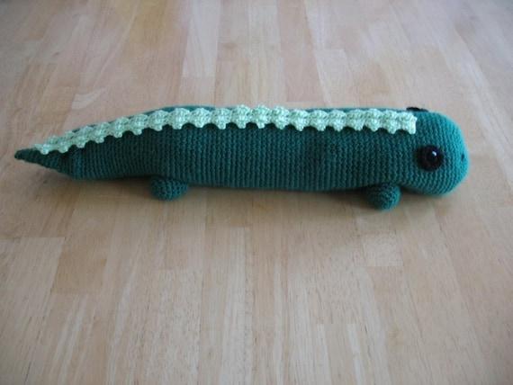 Crocheted Ricewarmer Lizard PDF Pattern
