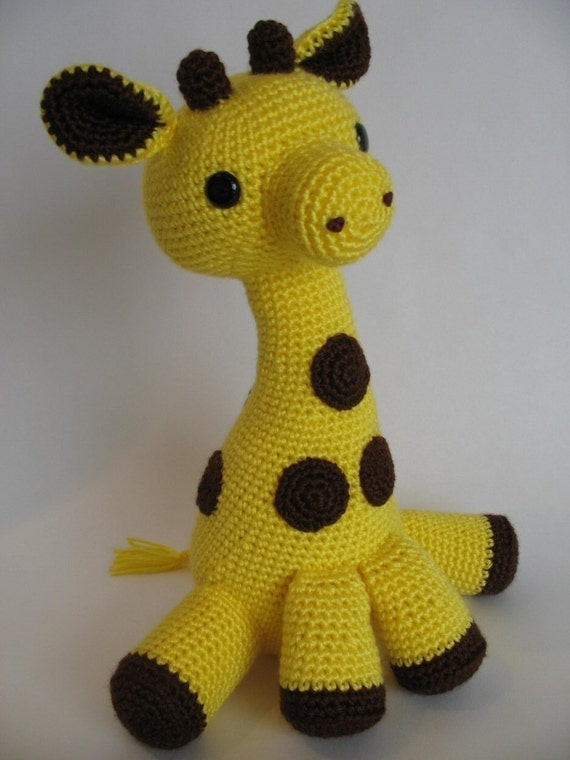 Amigurumi Giraffe PDF Pattern by djonesgirlz on Etsy