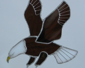 American Bald Eagle Stained Glass Sun Catcher Window Decoration