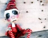 Loopy Ooak Art Doll Elf  Holiday Decor Christmas