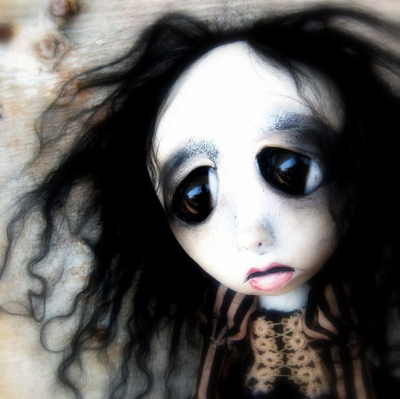 Halloween Doll Gothic Art Doll Isabella RESERVED balance FOR Cinna