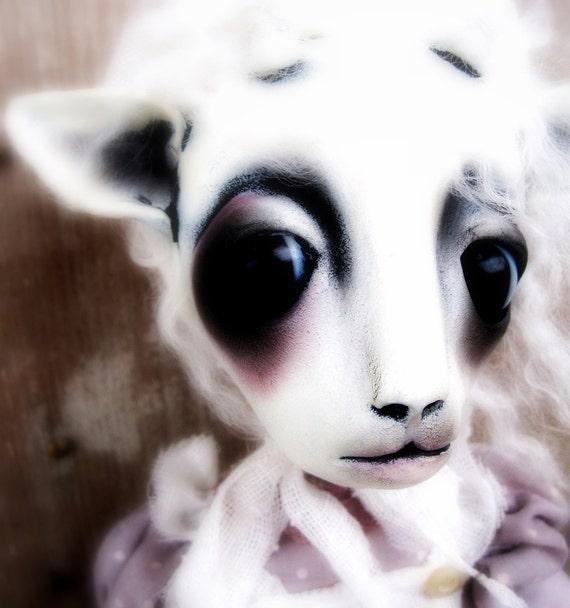 Loopy Ooak Art Doll Miss Lil Bo Sheep
