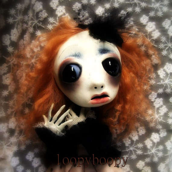 Loopy ooak Gothic Art Halloween decoration Scarey Doll  Jenna RESERVED for K