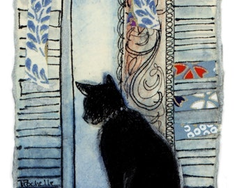 Cat in Window card