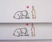 Love Bunnies Easter Card set of 3