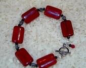 Reserved for knitster - Red Velvet masque bracelet