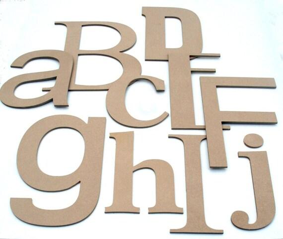 Custom DIY Nursery Alphabet KiDs Wall Letters - 6-14 inches