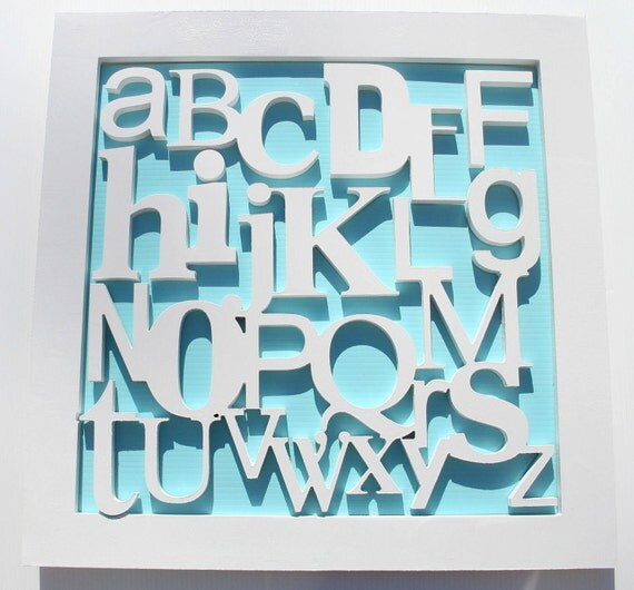 Custom Nursery Alphabet KiDs Wall Frame - Wooden Letters