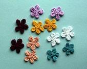 Retro Petals - Small Crocheted Floral Applique or Embelllishment