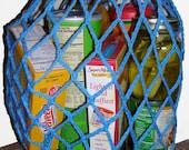 Market bag crochet pattern, reusable grocery bag, free shipping pdf
