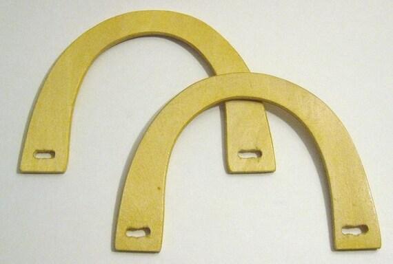 Purse handles wood upcycled bag supplies destash light