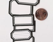 licorice minis - adhesive labels stickers