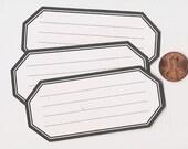 licorice hexagons - adhesive labels stickers
