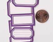 grape minis - adhesive labels stickers