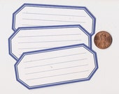 blueberry hexagons - adhesive labels stickers