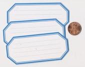 rain hexagons - adhesive labels stickers