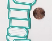 sea glass minis - adhesive labels stickers