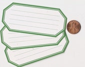 shamrock hexagons - adhesive labels stickers