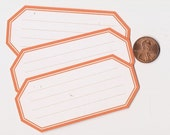 tiger lily hexagons - adhesive labels stickers