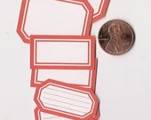 poppy minis - adhesive labels stickers