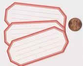 poppy hexagons - adhesive labels stickers