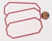 cherry hexagons - adhesive labels stickers