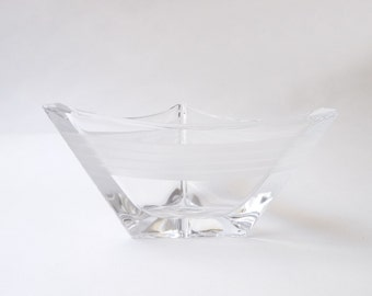 Modernist Triangular Crystal Bowl