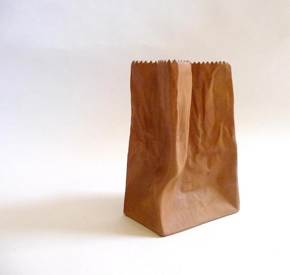 1970s Paper Bag Vase by Tapio Wirkkala for Rosenthal