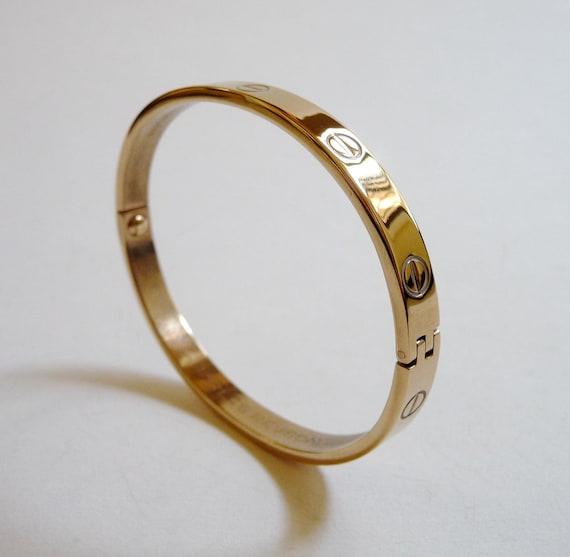 e39bd361c510 Vintage 1970 Aldo Cipullo Gold Cartier Love Bracelet Ultima Ii