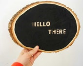 Handmade rustic wood welcome sign...hello there