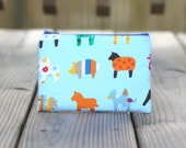 Zipper Pouch - Colorful Animals