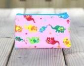 Zipper Pouch - Colorful Elephants