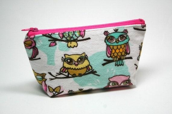 Owl Mini Cosmetics Pouch