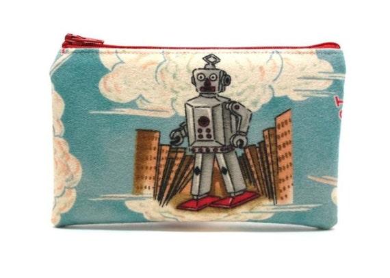 Robot Man Zipper Pouch