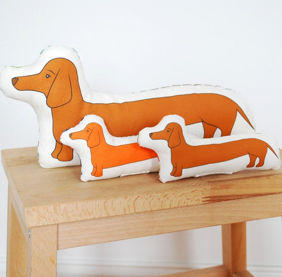 mini printed dachshund