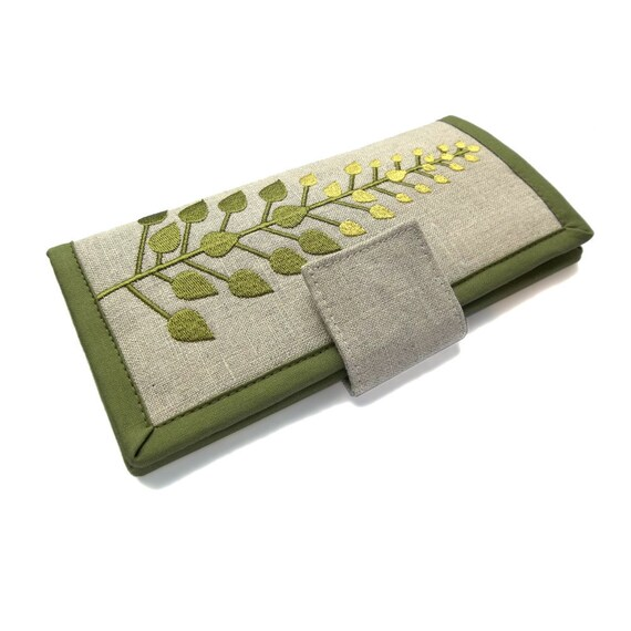 MADE TO ORDER | Womens wallet | Green tree womens wallet | Large Wallet | Gifts for women | Wallets for women | Modern wallet