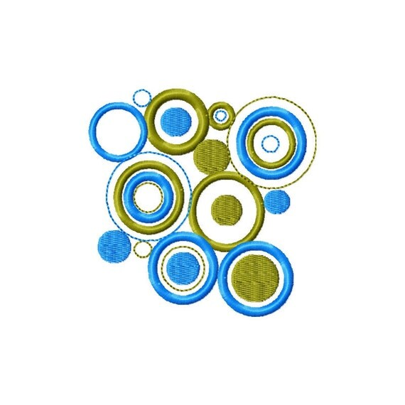 Machine embroidery design modern circles