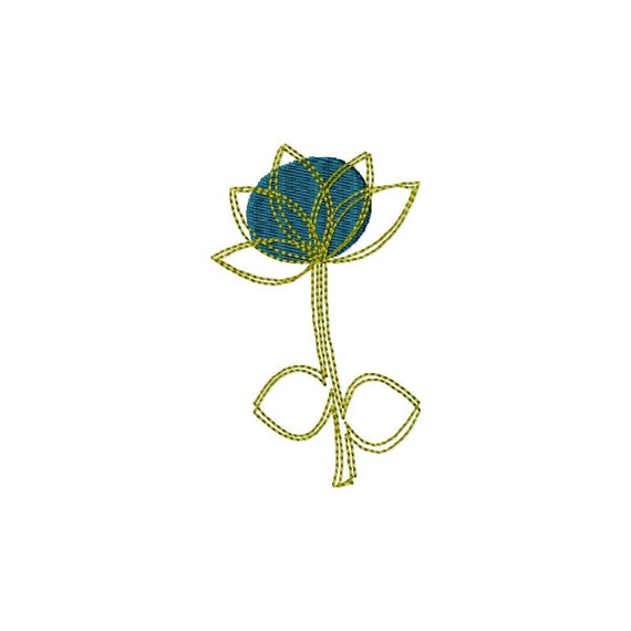Machine embroidery design simple flower