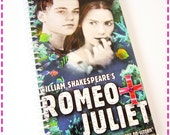 Notebook ROMEO and JULIET VHS Movie Video Original Recycled Notebook Upcycled Journal, Love Story, Eco Friendly,Vintage Circa 1996-