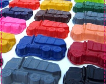GARBAGE / DUMP TRUCK Crayon Favors, Birthday Party Pack of (20), Transporation Arts & Crafts for Boys and Girls , In Assorted Colors